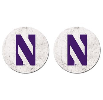 Northwestern Wildcats Thirsty Car Coaster 2-Pack