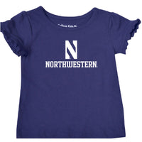 Northwestern Wildcats Toddler Ruffle T-Shirt