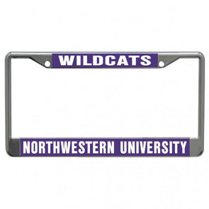 Northwestern Wildcats Metal License Plate Frame