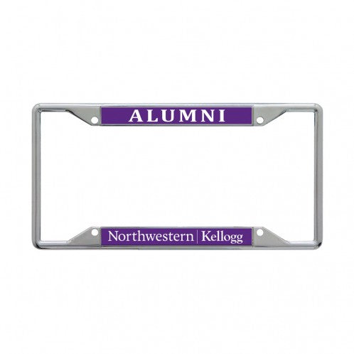 Northwestern Wildcats Kellogg Alumni License Plate Frame
