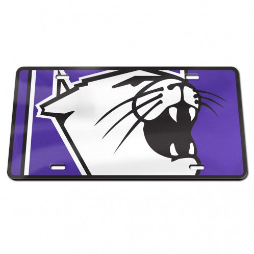 Northwestern Wildcats Cathead Specialty Acrylic License Plate