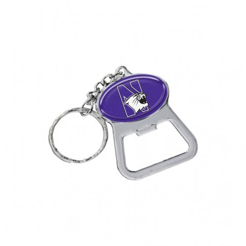 Northwestern Wildcats Cat Keychain Bottle Opener