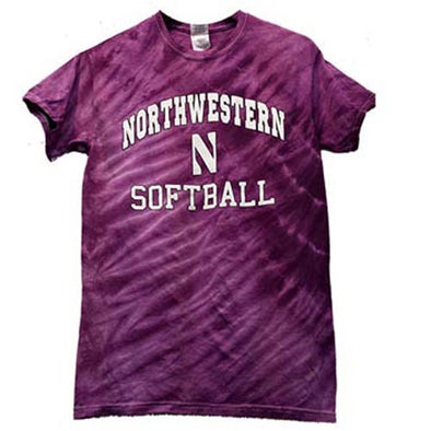 Northwestern Wildcats Softball Tie Dye T-Shirt