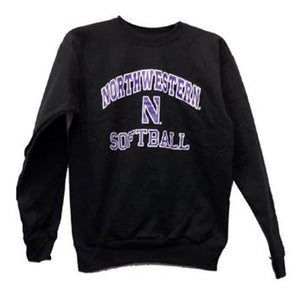 Northwestern Wildcats Black Northwestern N Softball Crew