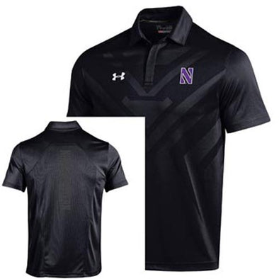 Northwestern Wildcats Under Armour® Sideline Black Scout Polo