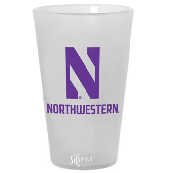 Northwestern Wildcats Silipint Pub Glass