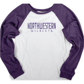 Northwestern Wildcats Women's Bella Fleece Crew