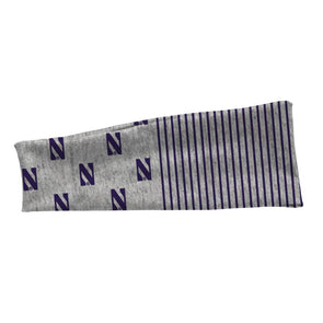 Northwestern Wildcats Stretch Headband-Grey