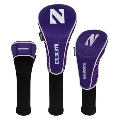 Northwestern Wildcats Headcovers - Set of three