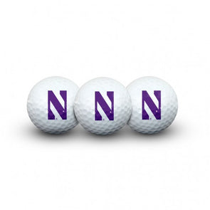 Northwestern Wildcats 3 Pack Golf Balls