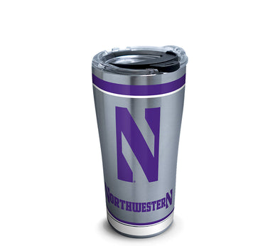 Northwestern Wildcats Stainless Steel Tumbler-20 oz.