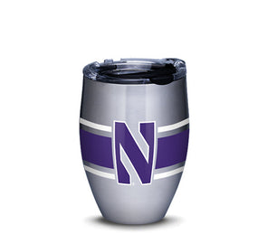 Northwestern Wildcats Stripes Stainless Tumbler