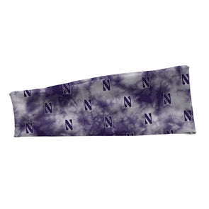 Northwestern Wildcats Stretch Headband-Tie Dye