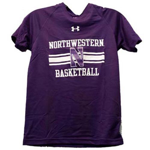Northwestern Wildcats Under Armour® Youth Purple N Basketball Tech T-Shirt