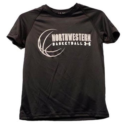 Northwestern Wildcats Under Armour® Youth Black Basketball Tech T-Shirt
