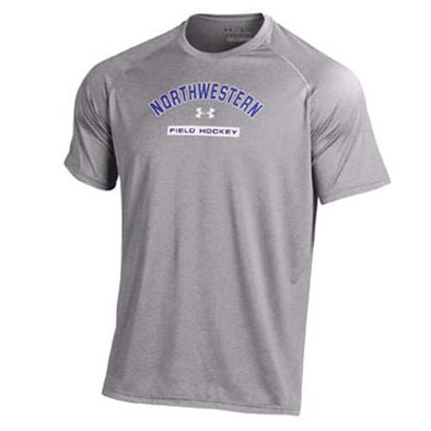 Northwestern Wildcats Under Armour® Grey Tech Field Hockey T-Shirt