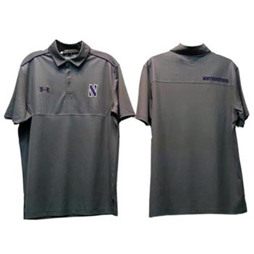 e6d3cf28 Northwestern Wildcats Under Armour® Grey Ultimate Sideline Polo ...