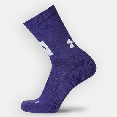 Northwestern Wildcats Under Armour Training Crew Socks-Puple Youth
