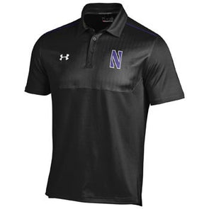 Northwestern Wildcats Under Armour® Black Ultimate Sideline Polo