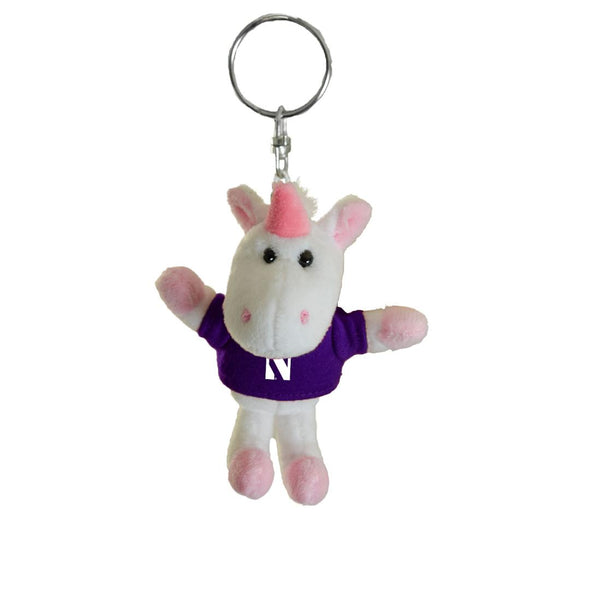 Northwestern Wildcats Unicorn Keychain