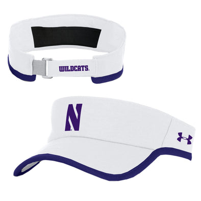 Northwestern Wildcats Under Armour Isochill Visor-White