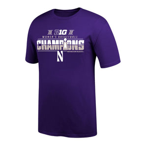 Northwestern Wildcats Women's Basketball 2020 Conference Champions Short Sleeve Tee