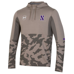 Northwestern Wildcats Under Armour Lightweight Military Quarter Zip