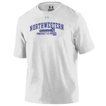 79958b37 Northwestern Wildcats Under Armour® White Protect This House T-Shirt