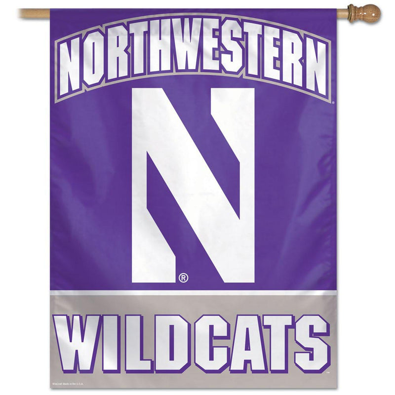 Northwestern Wildcats Vertical Flag