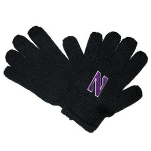 Northwestern Wildcats Youth/Junior Black Gloves