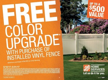 Free color upgrade on your vinyl fence purchase