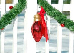 Decorate Your Fence for Christmas