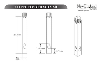 New England Arbors  Post Extension Kits