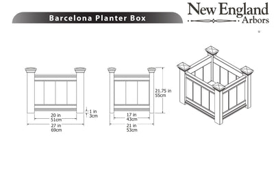 Barcelona Planter Box