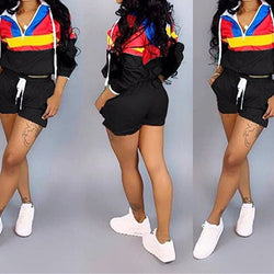 Women's two piece short set Jacket matching set