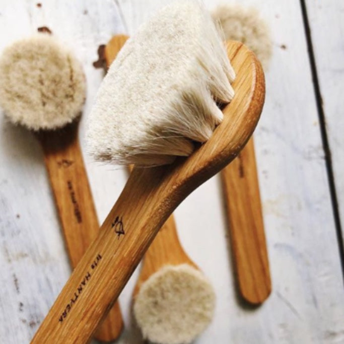 Lunah Life Glowing Skin Facial Dry Brush Rose City Goods Remove Dead Skin Cells Naturally Glowing Skin Gentle Exfoliant Smooth Fine Lines Canadian Skincare Brand London Ontario