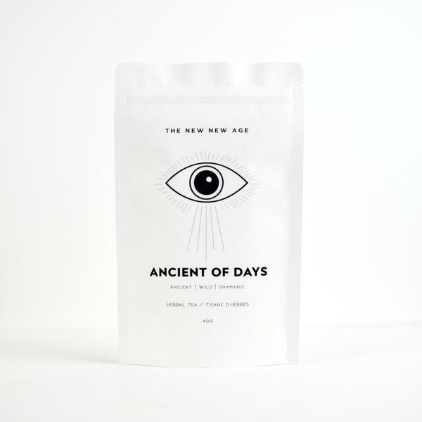 The New New Age Ancient of Days Tea Rose City Goods Adaptogenic Meditation Tea Grounding Black Licorice Schisandra Berry Eleuthero Root Assam Black Tea Focus Concentration Foraged in Ontario