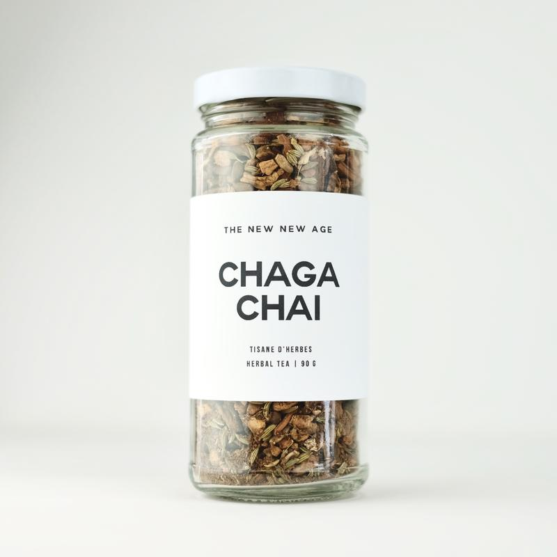 The New New Age Chaga Chai Rose City Goods Warming Invigorating Chaga Mushrooms Cloves Cinnamon Anise Seed Caffeine Free Made in Ontario