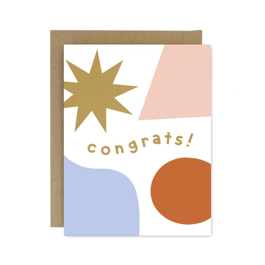 Congrats Shapes + Colours Card