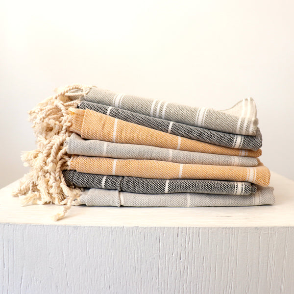 Stray and Wander Cove Hand Towel Rose City Goods Absorbent Quick Drying 100% Hand-Loomed Organic Turkish Cotton