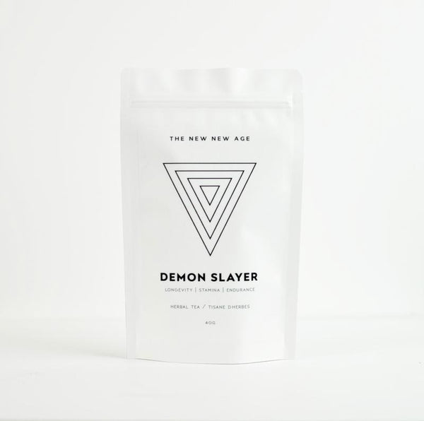 The New New Age Demon Slayer Tea Rose City Goods Rhodiola Root Vitality Adaptogenic Rose Lemonade Hibiscus Adaptogenic Vitality Stamina Eleuthero Lemon Balm Ginger Permaculturally Grown Ethically Wildcrafted Certified Organic Made in Ontario