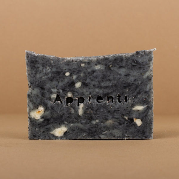 Apprenti Organik Herbal Detox Soap Rose City Goods Acne Prone Oily Skin Shea Hemp Coconut Olive Oil Charcoal Vitamin E Balsam Fir Handmade in Montreal
