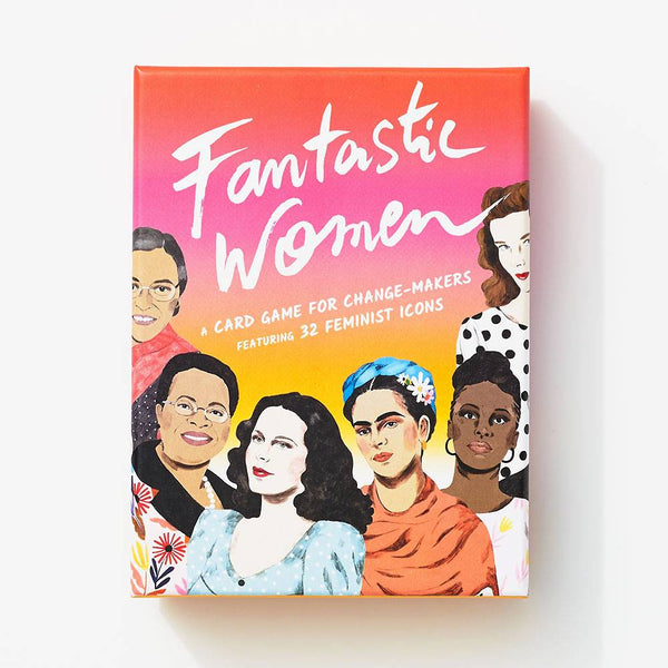 Fantastic Women Card Game Rose City Goods Daniela Henriquez Illustrations of 32 Feminist Icons Compare Notes on Some of the Most Inspiring and Courageous Women Ever Educational Feminist Card Game