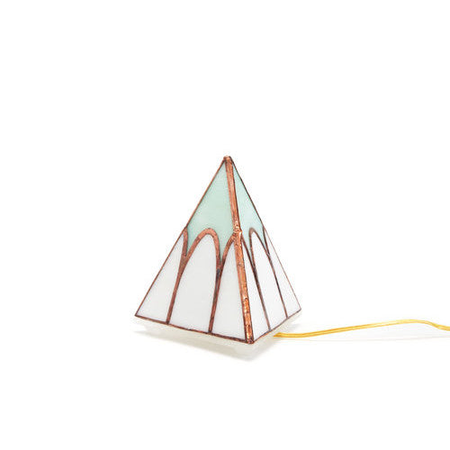 Small Pyramid Tabletop Lamp | Cathedral