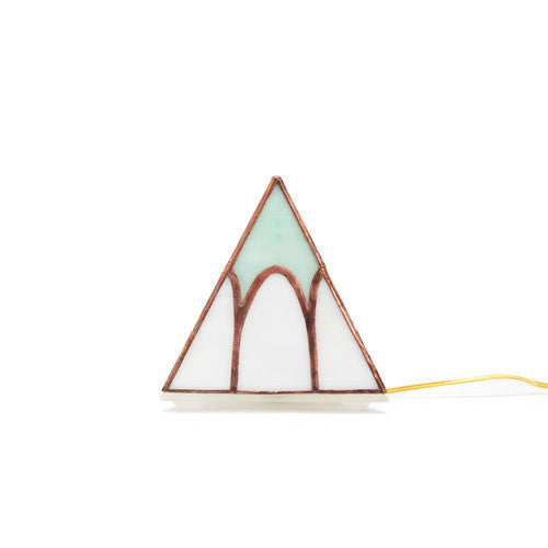 Pyramid Tabletop Lamp | Cathedral