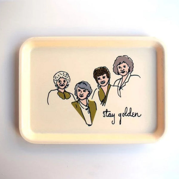 He Said She Said Trinket Tray Golden Girls Rose City Goods Jewellery Holder Key Holder