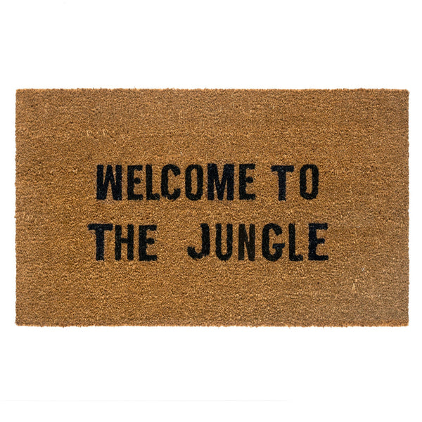 "Indaba Dad Rock Doormat This Must Be The Place Rose City Goods Made with Natural Coir and Durable Rubber Backing Doormat 27"" x 16"" Welcome To The Jungle"