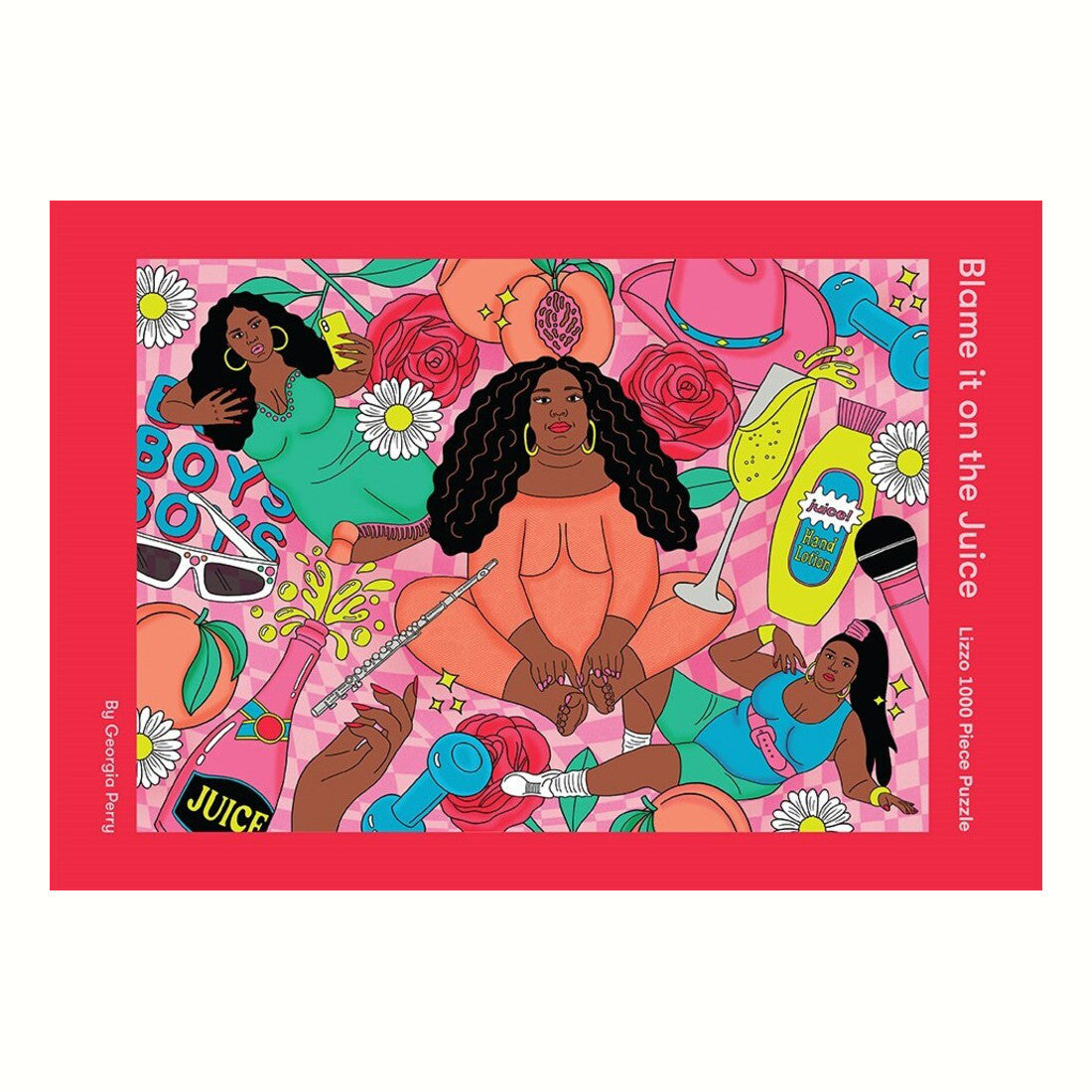 Lizzo Puzzle 1000 Pieces Rose City Goods Blame It On The Juice Georgia Perry