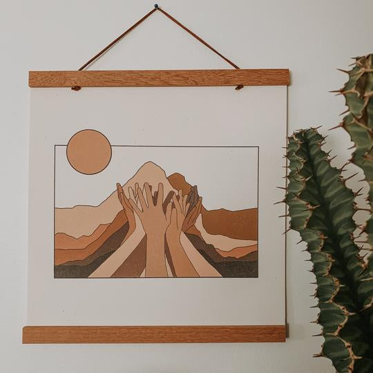 "ColorbloKC Move Mountains Print Rose City Goods Printed on 12"" x 12"" 100% Recycled Cardstock Made in Kansas City Kansas"