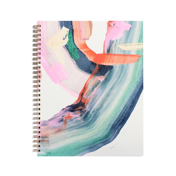 Moglea Nightfall Painted Workbook Rose City Goods Hand Painted Notebook Journal Notes Ruled Pages Lined Pages Wire Binding Lies Flat